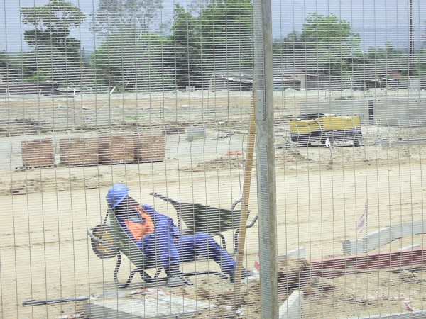 Lazy construction worker
