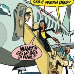 Jamaica Observer Cartoon Reflecting Current Views on Portia Simpson-Miller's Frequent Flights