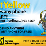 Text 4-Yellow Promotion By The Jamaica Yellow Pages