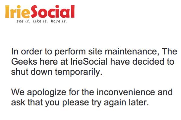IrieSocial Offline Message Jan 17, 2013