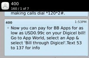 Digicel Jamaica Update - Buying BB Aps Just Got Easier